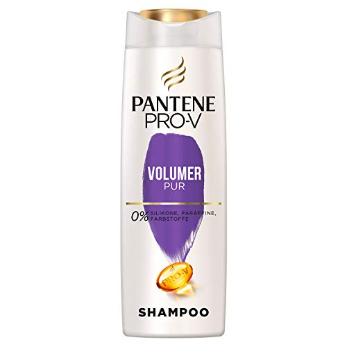 Pantene Pro-V Volumen Pur Shampoo für Feines, Plattes Haar, Haarpflege, Shampoo Damen, Volumen Shampoo, Volumen Haare, ohne Silikon, ohne Paraffine, Keine Farbstoffe, Beauty, 300ml