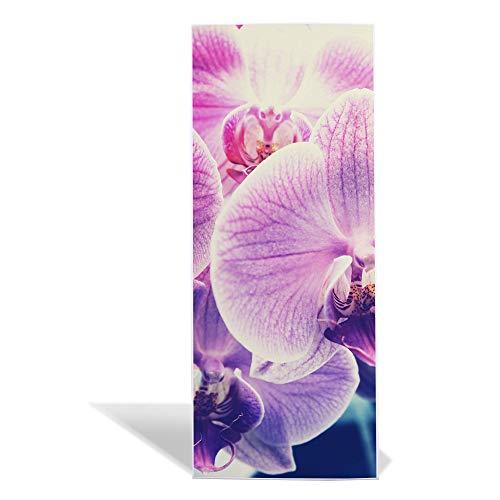 banjado Design Magnettafel 75x30cm groß | Memoboard mit Magneten | Metall Pinnwand magnetisch | Magnetboard mit Motiv Orchidee Vintage | Magnetwand für Küche, Büro oder Kinderzimmer