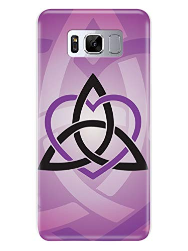 Inspired Cases - 3D Textured Galaxy S9 Case - Rubber Bumper Cover - Protective Phone Case for Samsung Galaxy S9 - Celtic Sisters Knot - Purple - White