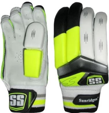SS Cricket Club Lite Cricket Batting Gloves, Men's Right Handed (Yellow)