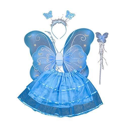 Niño /& Adulto Pixie Alas Hada Princesa Ángel Tinkerbell Fairy Tail vestido de fantasía
