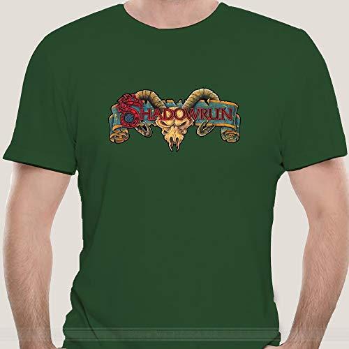 yui Camiseta suave y cómoda para videojuegos, diseño retro, para hombre, de algodón, fresca y guapa, color verde militar, talla XXL)