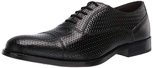 Steve Madden Men's Mantel Oxford, Black Leather, 8.5 M US