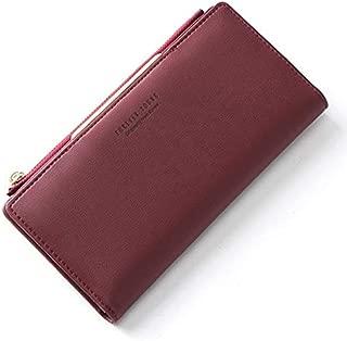 WEICHEN Women Wallet Zipper Coin & Cell Phone Pocket Female Wallet Card Holder Ladies Red Clutch Purse High Quality