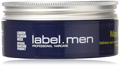 Label.M Mens Max Wax (Definition and Control, All Day Strong Hold with Shine) 50ml,