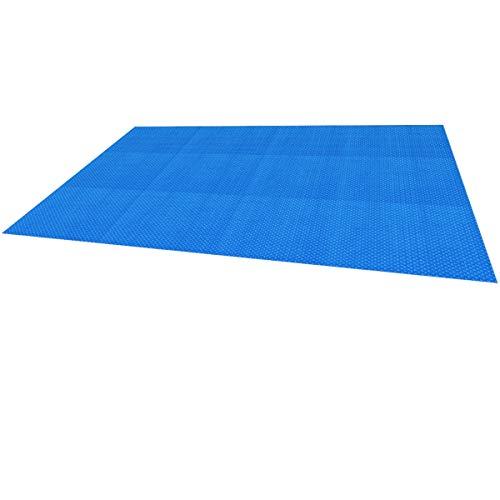 ECD Germany Solarfolie für Pool - 6 x 4 m - Eckig - 400 µm - Blau - Poolabdeckung Poolheizung Solarabdeckung Solarplane