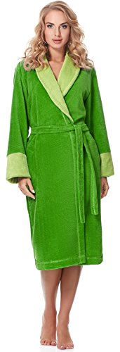 Merry Style Accappatoio Donna MSLL1003 (Verde(4038), M)