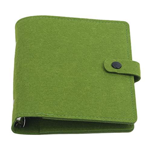Anchang Étui portable pour carnet de notes avec anneaux sans pages intérieures