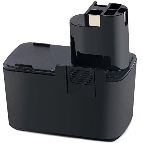 POWERAXIS für Bosch 9,6 Volt akku 3,0Ah NiMH Ersatzakku für Bosch PSR 9.6 VES-2 2607335037 2607335035 BAT001 GSR 9.6 VES-2 PSR 9.6 VE, PSB 9.6VES-2, PDR 9.6 VE, PBM 9.6 VSP-2, GSB 9.6 VES-2