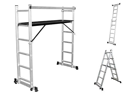 Aluminio Andamio aluminio escalera Andamio Andamios Andamio de trabajo Etapa – Escalera plegable: Amazon.es: Bricolaje y herramientas