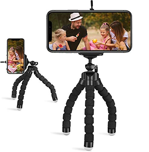 Trípode de mesa y viaje para teléfono móvil, mini trípode para selfies con patas plegables universales para smartphone cámara