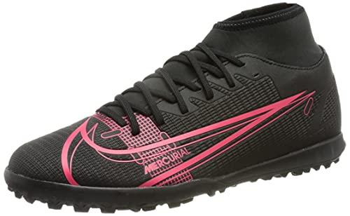 Nike Superfly 8 Club TF, Football Shoe Hombre, Black/Black-Cyber-Siren Red, 39 EU