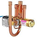 Ymhan® Aire Acondicionado Válvula de inversión de Cuatro vías electromagnéticas con Bobina 1P Piezas de Aire Acondicionado de Cobre Reemplazo de válvula hidráulica (Color : 1P)