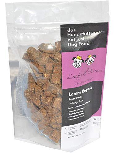 Lucky & Prince Lamm Royale Pure gefrier-getrocknete, kleine feine Reine -Fleisch-Snacks für das Hundetraining und als leckere Belohnung 80gr