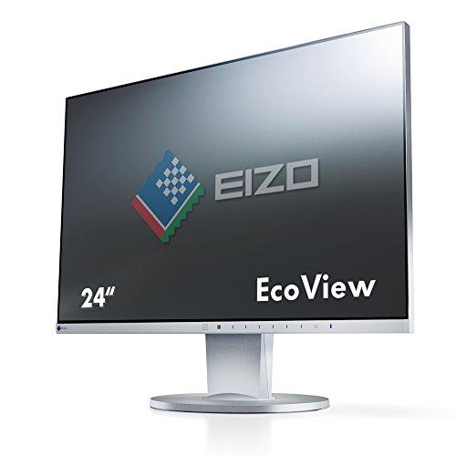 EIZO FlexScan EV2450-GY 60,4 cm (23,8 Zoll) Ultra-Slim Monitor (DVI-D, HDMI, D-Sub, USB 3.1 Hub, DisplayPort, 5 ms Reaktionszeit, Auflösung 1920 x 1080) grau
