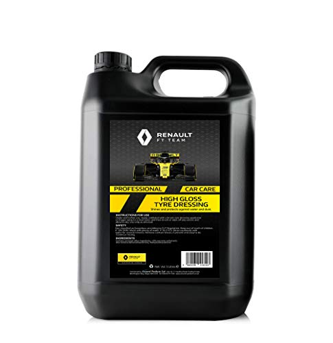 Renault F1 5 Litre High Gloss Tyre Dressing | Heavy Duty Formula | Protects and Shines
