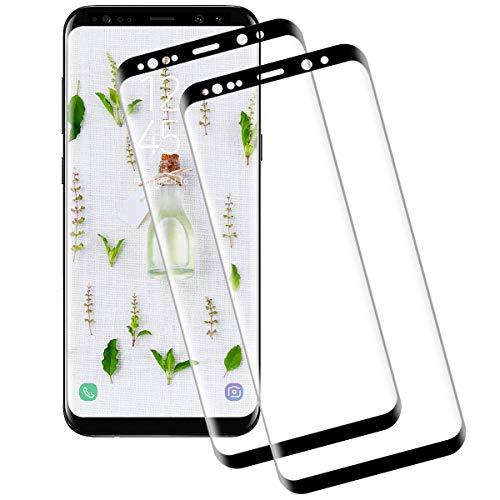 Miuphro[2 Pezzi Pellicola Protettiva per Samsung Galaxy S8, Samsung Galaxy S8 Vetro Temperato, Anti Graffi+ Alta Trasparenza+ Ultra Resistente+ 9H Durezza Pellicola Vetro