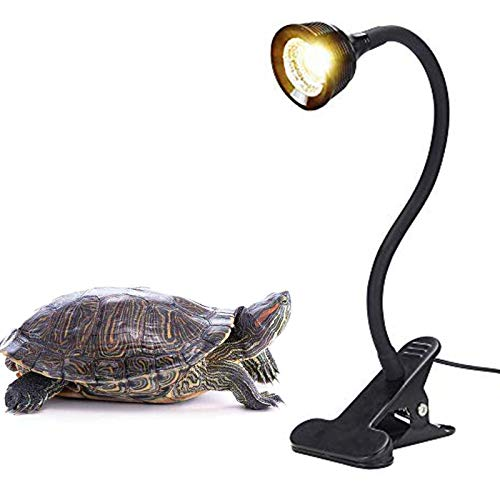Reptile Turtle Light LED UVA + UVB Sun Lamp with Flexible Clamp Lamp Holder for Reptiles Amphibian Lizard Turtle Snake Tortoises Bearded Dragons Chameleon Lizard(Lamp Bulb Include)