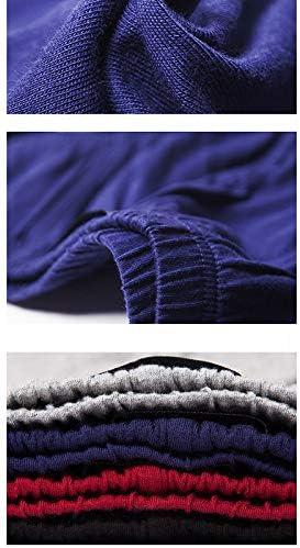 JIUMENG Men's Boxer Briefs Underwear Men's Single Color Comfortable Cotton Underwear