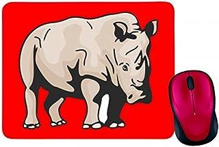 """Alfombrilla para ratón """"Nashorn Wildnis Rudel Afrika Savanne"""" en negro, blanco, azul, rosa, amarillo, rojo, verde, alfombr..."""