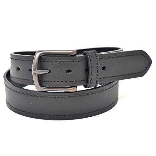 NYBC Belts for Men Vegan Leather Casual Mens Belt 38mm Width, NYBC Colton, Black, Medium