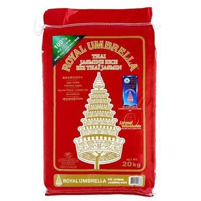 Royal Umbrella - Arroz largo tailandés perfumado jazmín 2019, peso neto 20...