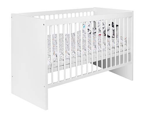 Mia Care Weiß Babybett 120x60 cm Stabil Baby bett