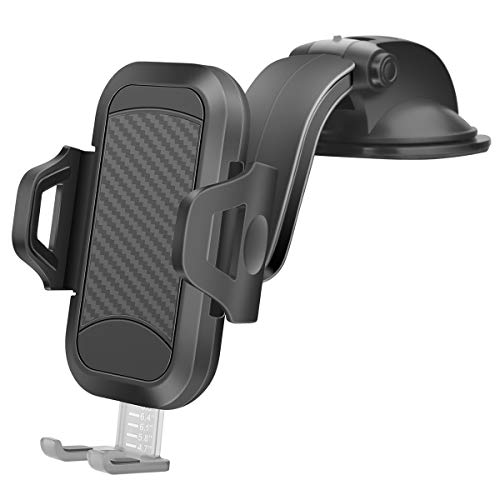 Handyhalterung Auto Handyhalter fürs Auto Universal KFZ Handyhalterung Smartphone Saugnapf Halterung Handy Autohalterung für iPhone 11 Pro, X, XS, Max, XR, 8, 6/6S, 7, Samsung S9 S8 S7 S10 S6 usw