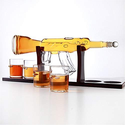 KKTECT Decantador de whisky con piedra de hielo, juego de 4 vasos...
