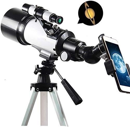 J & J Telescopio astronómico Profesional para Adultos telescopio Refractor Espejo Vista del Paisaje Senderismo máximo 336 Veces de Aumento