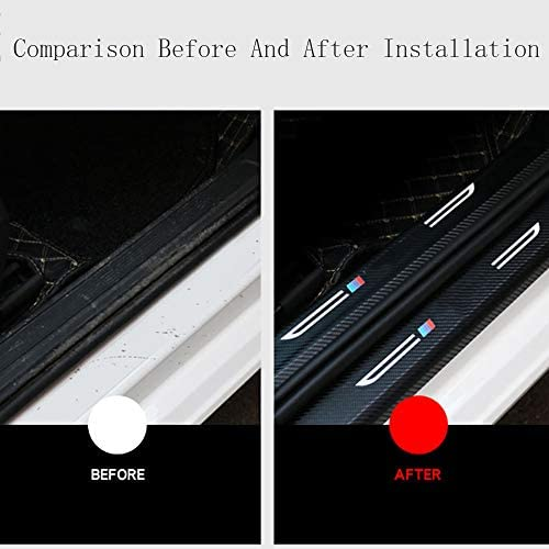Whhjw 8 Teilige Auto Schwellenstange Carbon Einstiegsleistenschutz Außen Einstiegsleisten Willkommens Pedalaufkleber Zierstreifen Für Mitsubishi Eclipse Cross Küche Haushalt