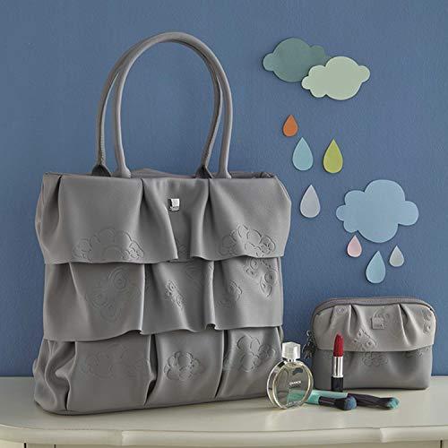 THUN ® - Borsa Grande in Ecopelle - Linea Pioggia di Colori - 37x13x32 cm + 20 cm con Manico