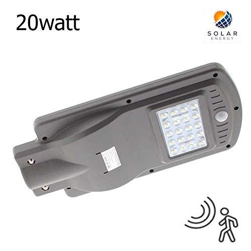 Farola LED Solar URBAN 20W Detector Movimiento K6000 Blanco Frío