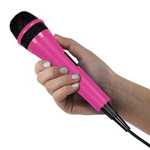 Singing Machine SMM205P Karaoke Machine Uni-Directional Dynamic Microphone with 10-Foot Cord