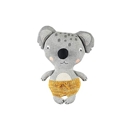 OyOy Mini Darling Cushion Baby Anton Koala Stofftier Koalabär - Süßes Baby Kinder Kissen Kuschelkissen und Schmusekissen - Baumwolle 26x20 cm