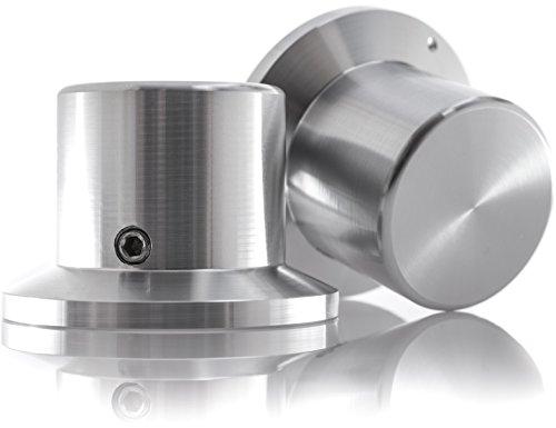 Hifi Lab Poti-Knopf Alu 38x26x26 Audio Drehknopf Aluminium massiv Silber 6,35mm Potentiometer Knopf Alu-Knopf