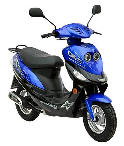 Roller GMX 550 Mokick 45 km/h blau 2,1 KW / 2,9 PS/Luftgekühlt/Alufelgen/Gepäckträger/Scheibenbremse/Teleskopgabel Hydraulisch/ab 16 Jahren