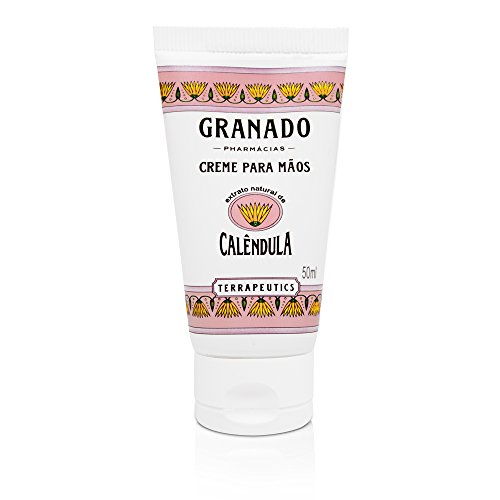 Creme para Mãos Terrapeutics Calêndula, Granado, Rosa Claro, 50ml