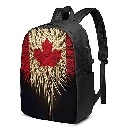 XCNGG Glory Canada Travel Mochila para computadora portátil, Mochila con Puerto de Carga USB, para Hombres y mujeresSe Adapta a 17 Pulgadas