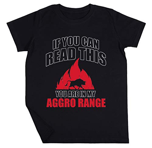 If You Can Read This You Are In My Aggro Range Niño Niña Unisexo Negro Camiseta Manga Corta Kids Black T-Shirt