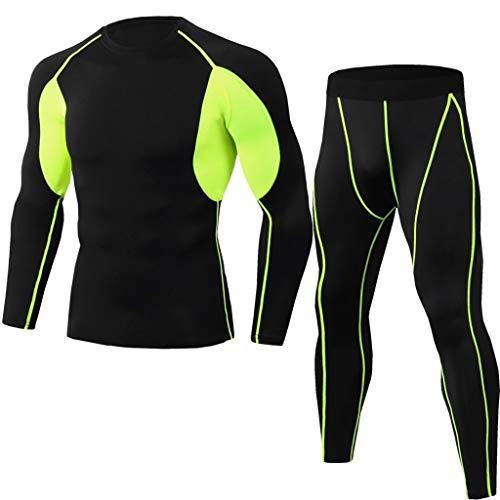 BUZHIDAO Herren Atmungsaktive Schnelltrocknend Lauf Set Sportbekleidung Trainingsanzug Jogginganzug Sweatshirt Hose Langarm-sportbekleidung Für Männer