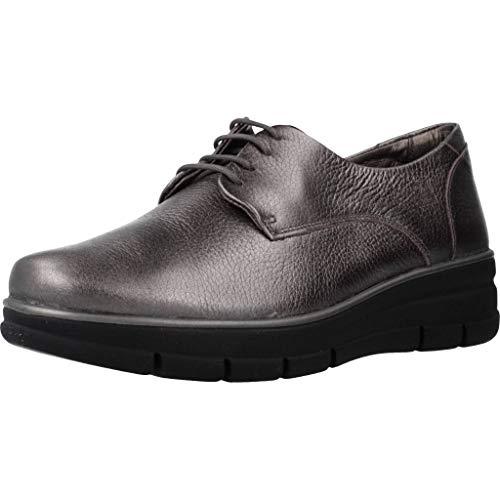 24 Horas Zapatos Cordones Mujer 24292 para Mujer Plateado 36 EU
