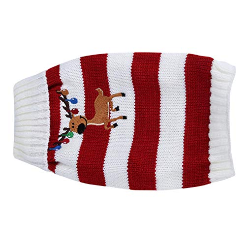 Suéter de moda para mascotas, abrigo informal para perros, para decoración de mascotas, para vacaciones y ocasiones especiales,(red, S)