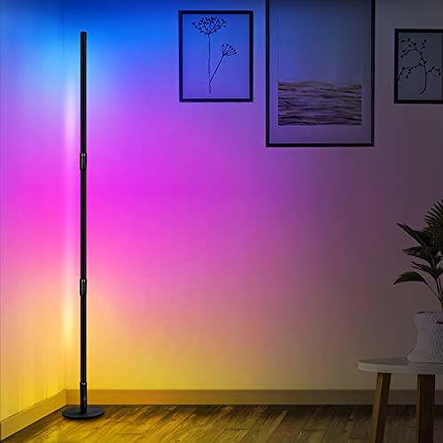Aney Well Lampada da Terra LED Dimmerabile, 2800LM 20W RGB Lampada Terra con Telecomando, Cambia Colore Lampada RGB Color Ambiance per soggiorno, camera da letto, Round bottom