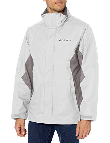 Columbia Men's Big & Tall Eager Air Interchange Jacket, Nimbus Grey/City Grey, 3X Tall