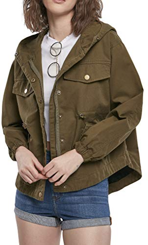 Urban Classics Damen Ladies Oversized Parka Jacket Jacke, summerolive, XXL