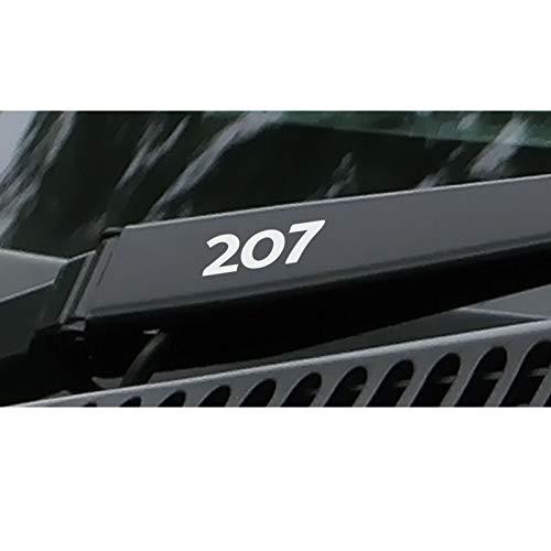 SLONGK 4PCS Sport Styling Reflektierende Vinyl-Autoaufkleber, für Peugeot 207 Auto Window Wiper Decoration Wasserdichtes PVC-Abziehbild Zubehör