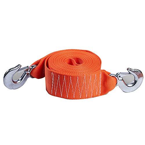 Yimihua 8 Toneladas 6 M Cuerda De Remolque De Coche Cuerda De Tracción Cuerda De Rescate 4x4 Todoterreno Naranja, Utilizada para Automóviles, Vehículos Agrícolas, SUV