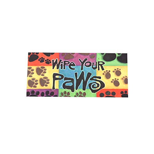 Wipe Your Paws Colorful Sassafras Switch Mat - 22 x 1 x 10 Inches