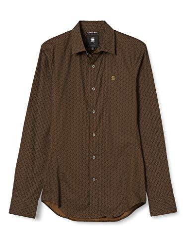 G-STAR RAW Men's Dressed Super Slim Shirt, Wild Olive Raw Hb C289-c055, L